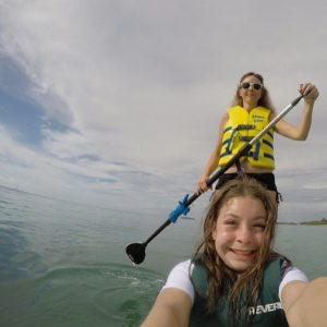paddling boarding at Beaches