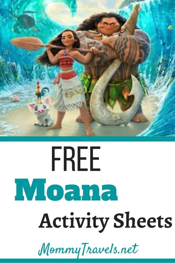 Moana Activity Sheets - free printables