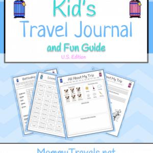 Printable travel journal for tweens and older kids
