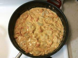 Cajun mac and cheese with shrimp and crawfish