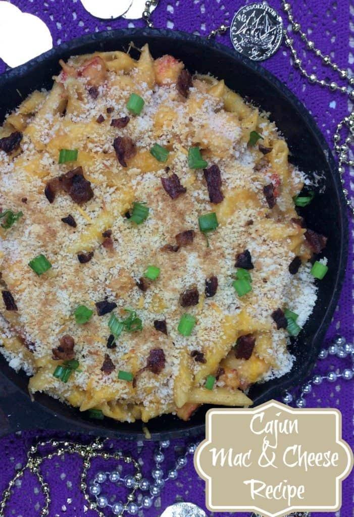 Cajun recipe Shrimp and crawfish mac and cheese