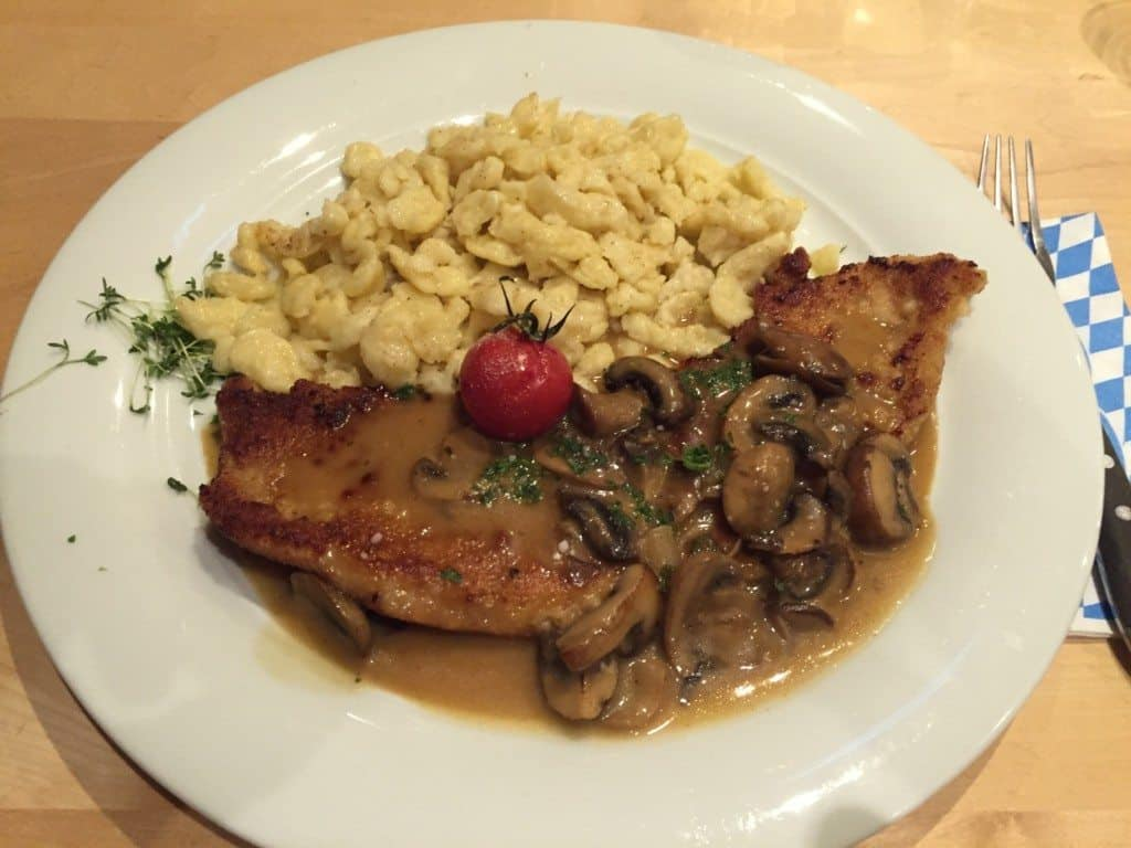 German foods you must try - Jägerschnitzel and Spätzle