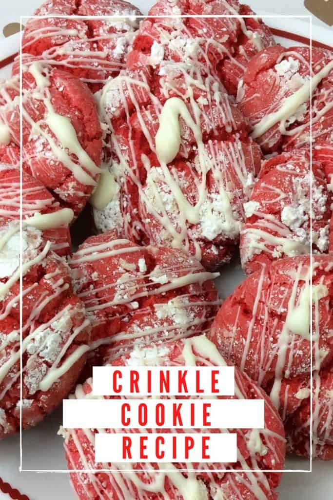White Chocolate Crinkle Cookie Recipe