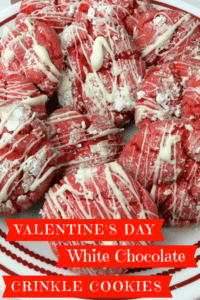 White chocolate crinkle cookies are the perfect Valentine's day treat