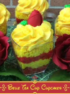 Beauty and the beast tea cup cake