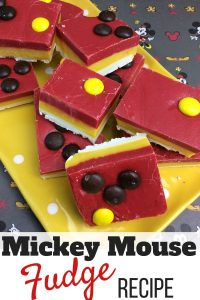 Mickey Mouse Fudge Recipe