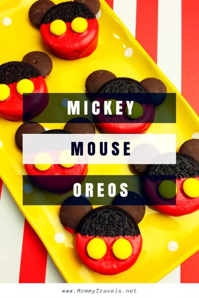 Mickey Mouse Oreos. Easy to make and kids love them!