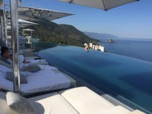 Rooftop pool at Hotel Mousai