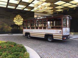 The trolley at Hotel Mousai
