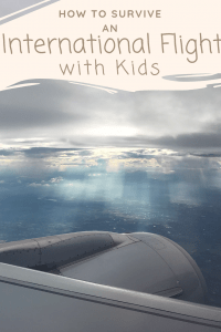 How to survive flying with children internationally