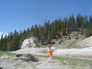 Lone Star Geyserin Yellowstone