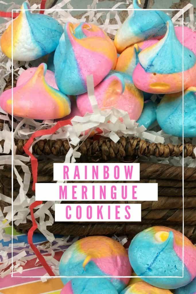 Rainbow Meringue Cookies