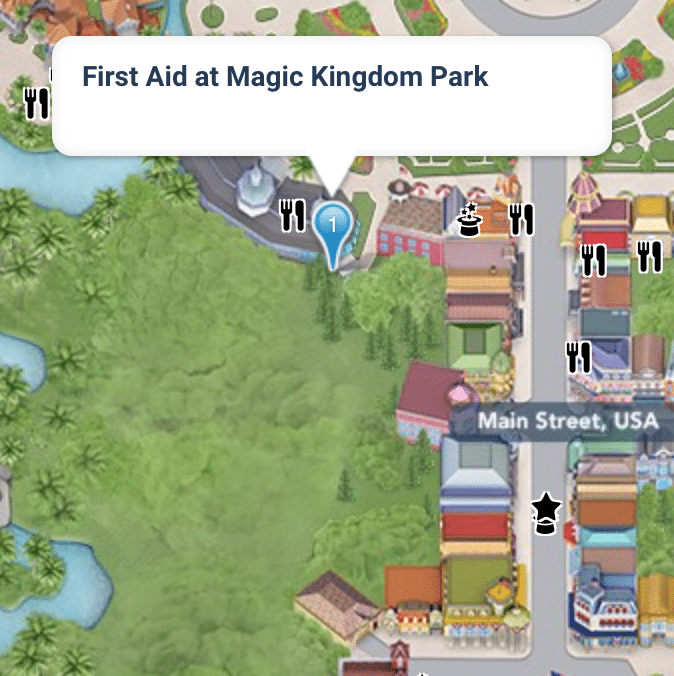 Where to Find the Magic Kingdom First Aid Center