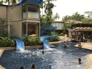 waterslides at Novotel Phuket Surin