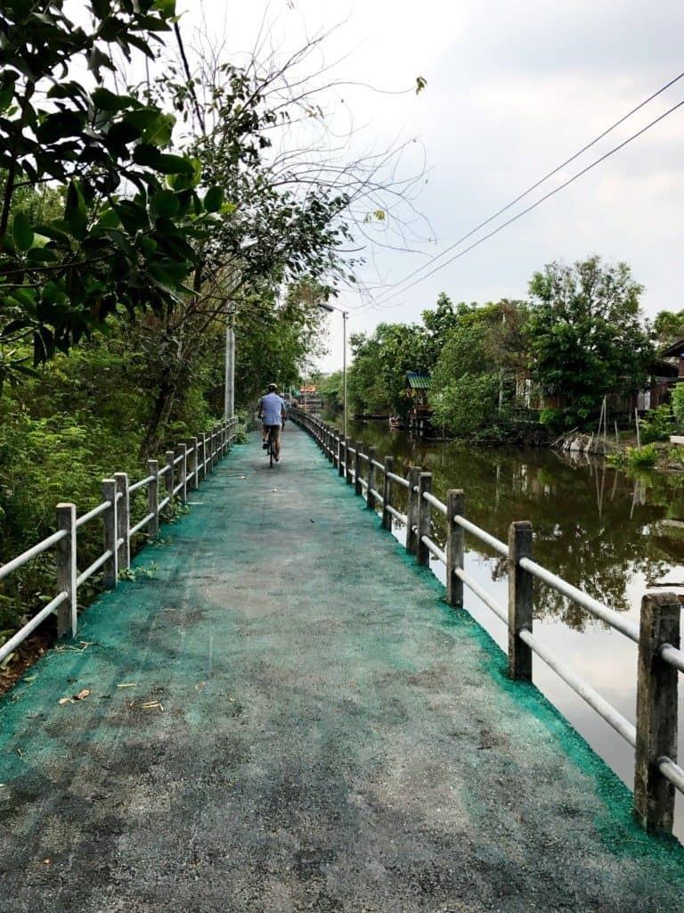 jungle bicycle tour in Bangkok