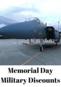 Memorial Day Military Discounts 2017