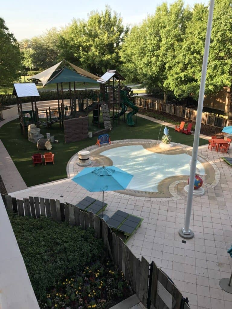 The kids playground at the Ritz Carlton Orlando