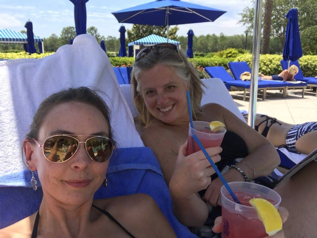 Hanging out poolside at the Ritz Carlton Orlando