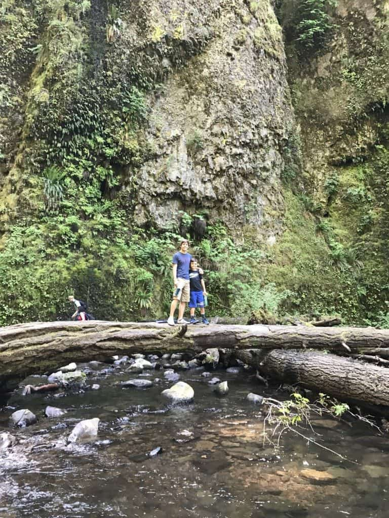 Tips for hiking the Oneonta Gorge with kids