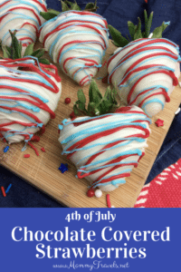 4th of July Chocolate covered strawberries