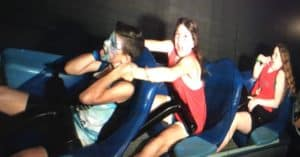 riding space mountain at Disney World