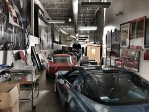 National Corvette Museum storage room