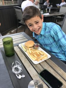 Kid's hamburger at Ringside Grill