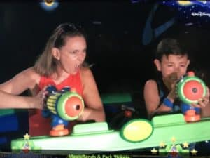 Buzz Lightyear ride at the Magic Kingdom