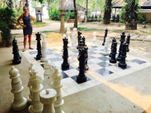 Large chess game at Shangri-la Chiang Mai