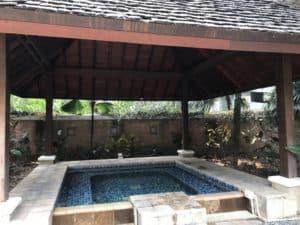 hot tub at Shangri-la Chiang Mai