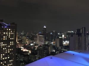 The view from Above Eleven rooftop bar in Bangkok