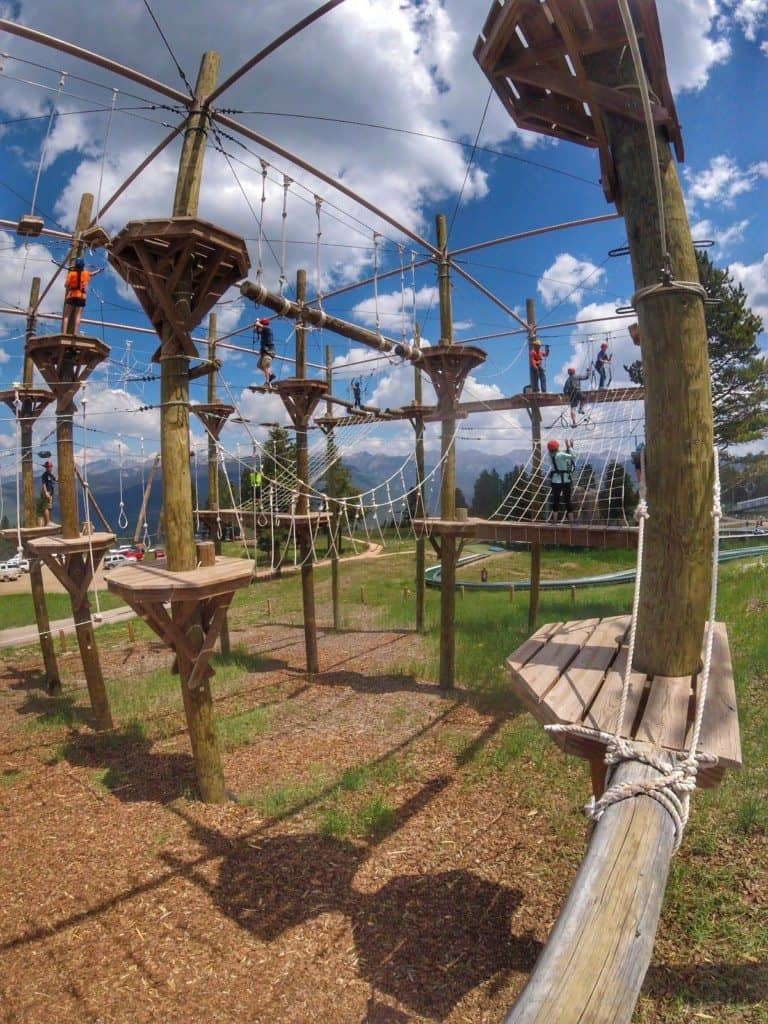 One of two huge rope courses at Epic Discovery in Vail.