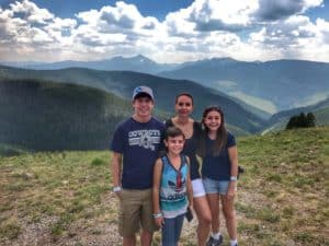The mountains in Vail