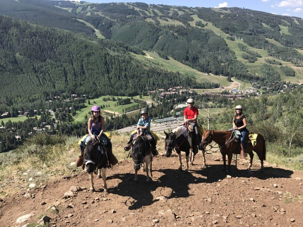 Horseback riding at Vail Stables in Vail, Colorado