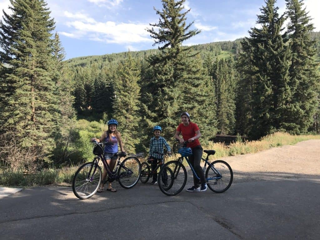 Bicycling in Vail, Colorado