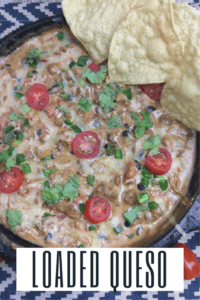 Cowboy queso dip is a fully loaded queso