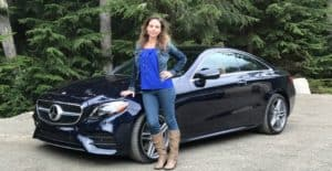Meagan with the Mercedes