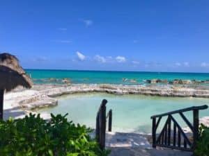A salt water pool at El Dorado Royale in Riviera Maya, Mexico