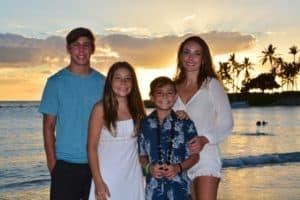 Family photo at Disney Aulani
