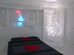 Hotel De Glace, located just outside of Quebec City, Quebec