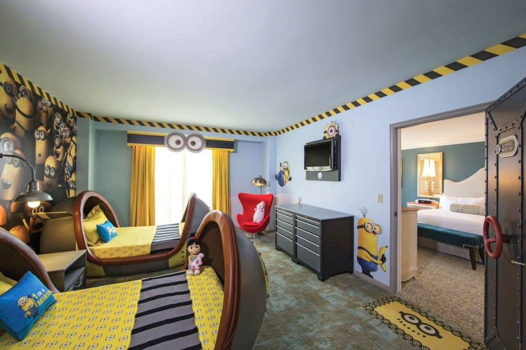Portofino Bay hotel kids Descipable Me suite