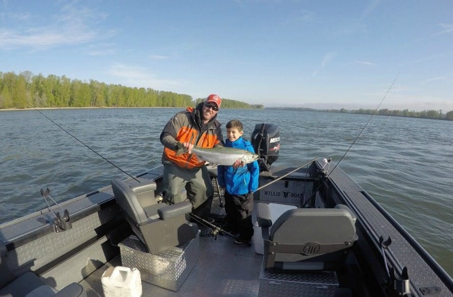 Salmon Fishing on the Columbia Gorge River