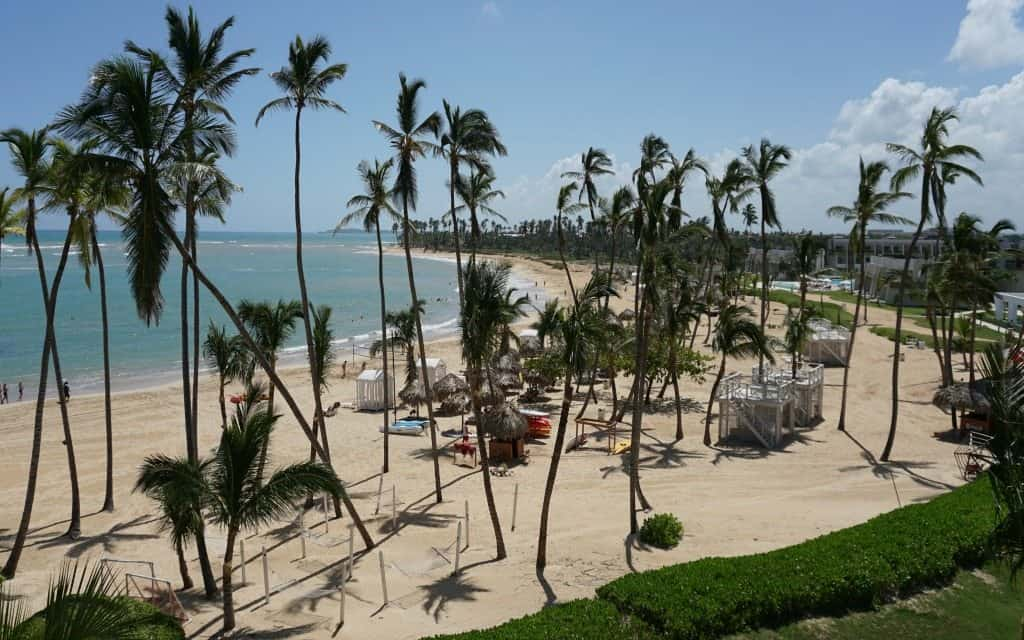 The beach in front of Now Onyx Punta Cana