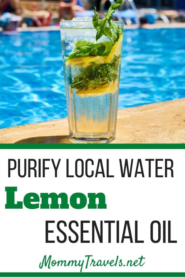 Purify local water with lemon essential oil