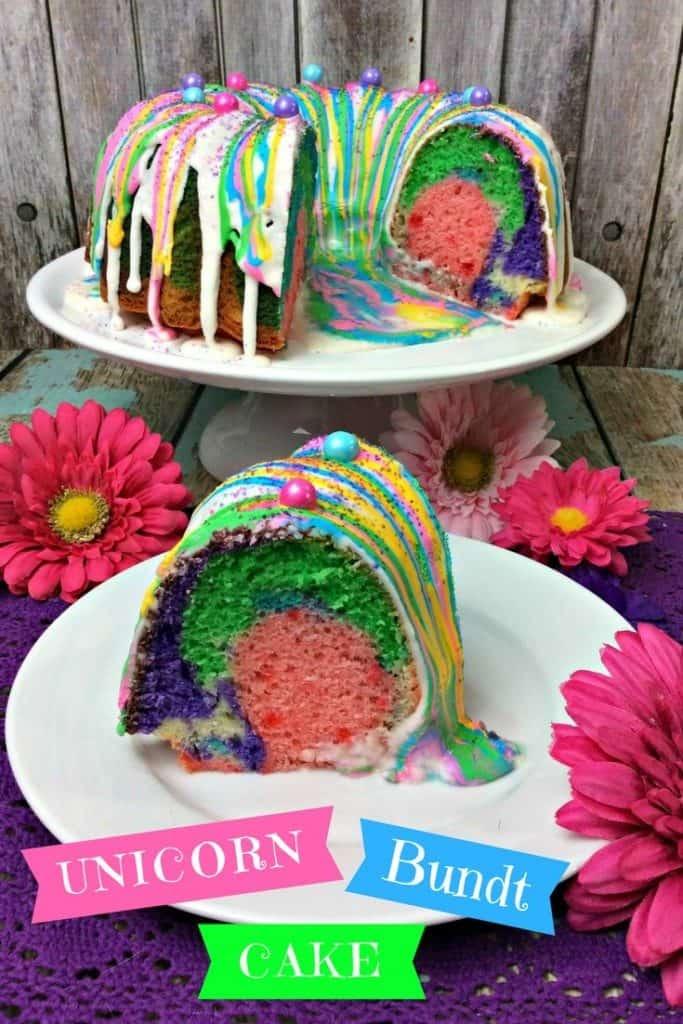 Unicorn bundt cake