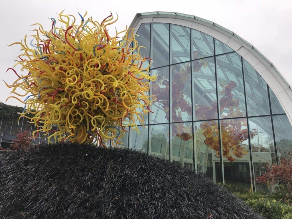 Dale Chihuly's Sunshine made with glass reeds