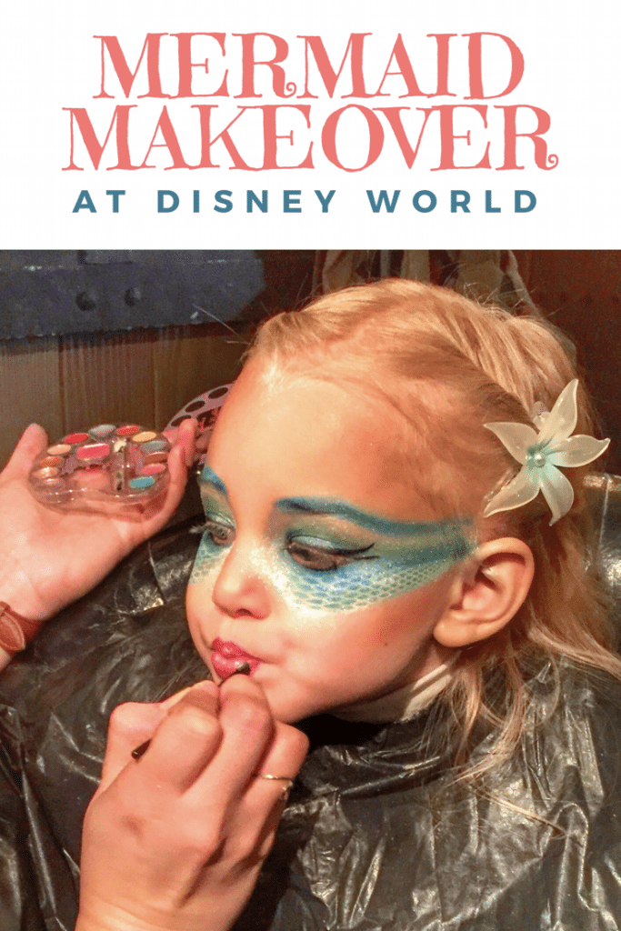 Have your child transformed into a mermaid at the Pirates League in the Magic Kingdom with a Mermaid Makeover!