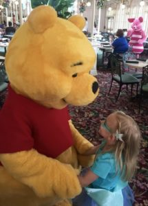 lunch with Winnie the Pooh at Disney World