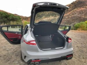 Kia Stinger trunk space