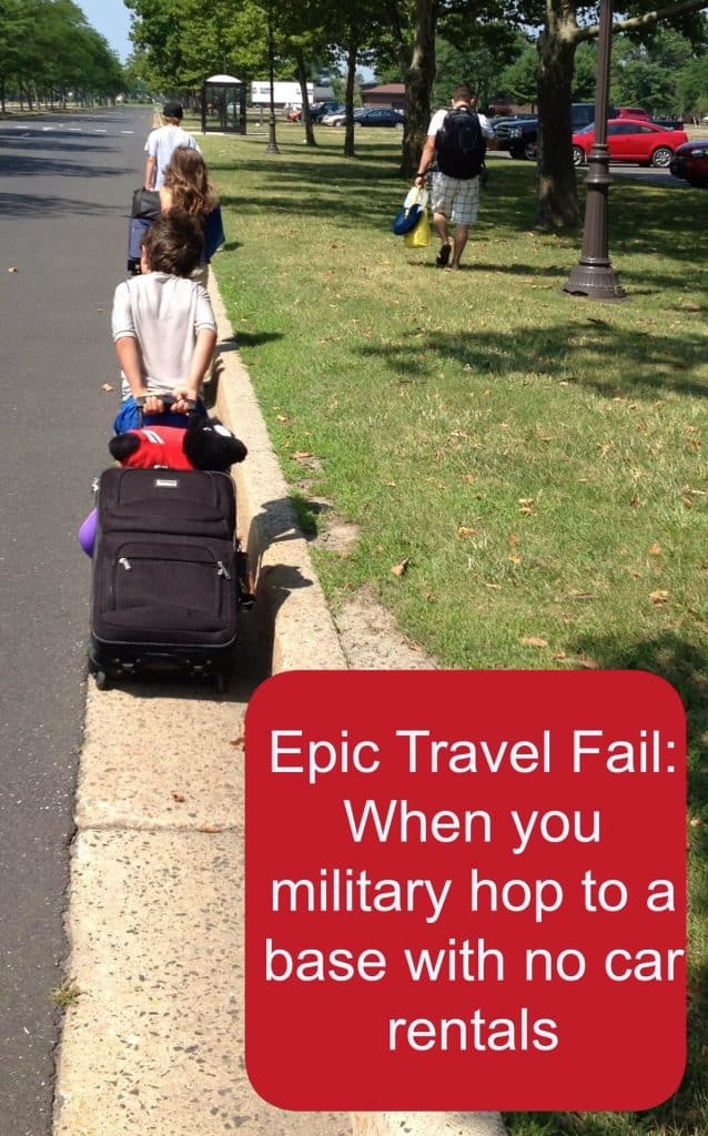 military travel fail